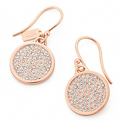 COACH F96413 - PAVE DISC EARRING RS/CLEAR