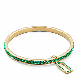 PAVE BANGLE - f96416 - GOLD/GREEN