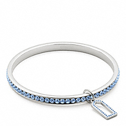 COACH F96416 Pave Bangle SILVER/LIGHT BLUE