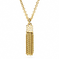 COACH F96497 Short Tassel Neck