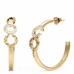 COACH F96501 - OP ART HOOP EARRINGS ONE-COLOR