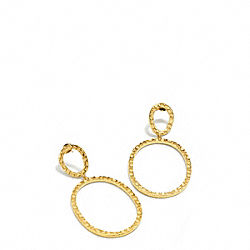 COACH F96502 Oval Link Earrings GOLD/GOLD