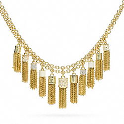 COACH F96514 Tassel Bib Necklace
