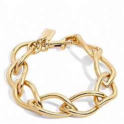 COACH F96535 Leaf Chain Bracelet