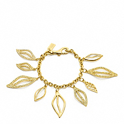COACH F96547 Multi Leaves Charm Bracelet