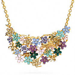 COACH F96548 Garden Flower Bib Necklace