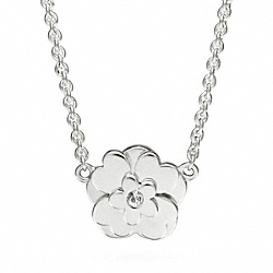 COACH F96549 Sterling Poppy Flower Necklace