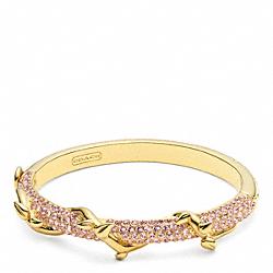 COACH F96558 Pave Vine Hinged Bracelet GOLD/PINK