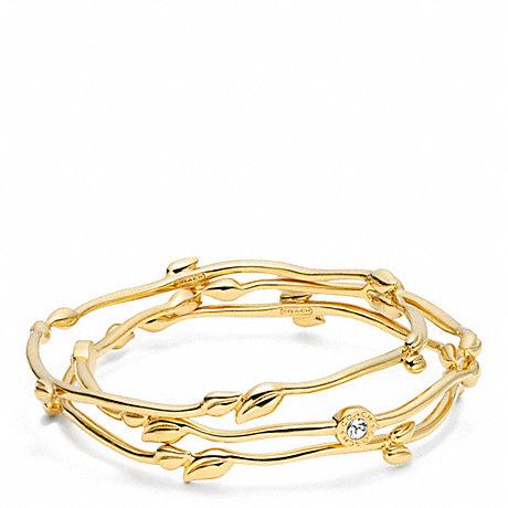 Coach F96562 Leaf Bracelet Set Coach Jewelry
