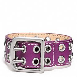 COACH F96569 Grommet Buckle Bracelet SILVER/PURPLE