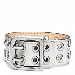COACH F96569 Grommet Buckle Bracelet SILVER/WHITE