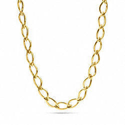 COACH F96571 Leaf Chain Necklace