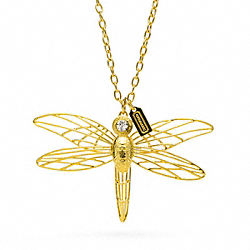 COACH F96578 Wire Dragonfly Necklace
