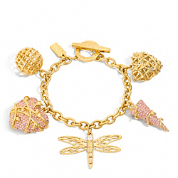 COACH F96589 Pave Vine Charm Bracelet