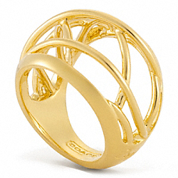 COACH WIRE DOMED RING - ONE COLOR - F96590