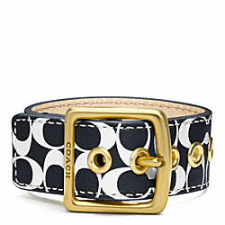 COACH F96594 Signature C Leather Buckle Bracelet
