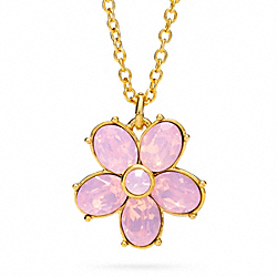 COACH GARDEN FLOWER PENDANT NECKLACE - ONE COLOR - F96597