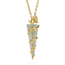 COACH F96613 Pave Spike Vine Necklace