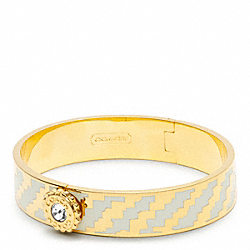 COACH F96622 Half Inch Hinged Houndstooth Bangle