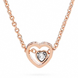 COACH F96632 Pave Stone Heart Necklace