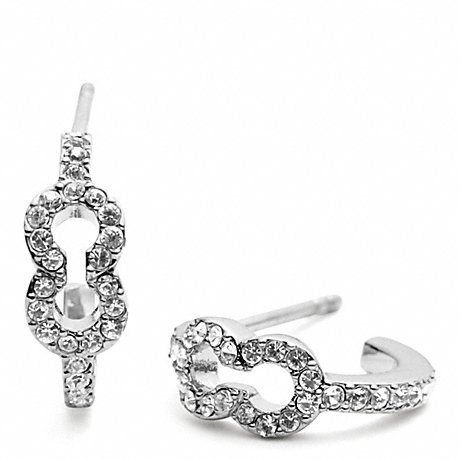 COACH SMALL PAVE OP ART EARRING -  - f96638
