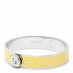 COACH F96642 Half Inch Daisy Bangle