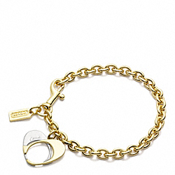 COACH F96647 - POPPY SIGNATURE CHARM BRACELET ONE-COLOR