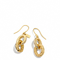 COACH F96671 Pave Op Art Link Earrings