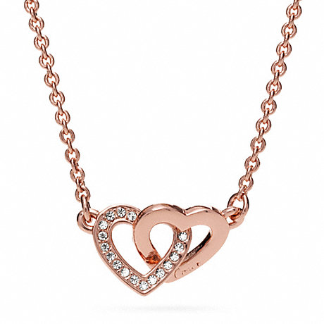 COACH f96675 INTERLOCKING HEART NECKLACE