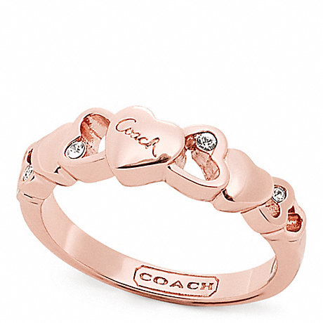 Coach F96699 Open Heart Stone Ring Coach Jewelry