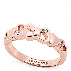 COACH F96699 - OPEN HEART STONE RING ONE-COLOR