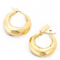 FACETED HUGGIE EARRINGS - f96714 - 20057