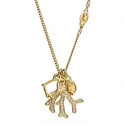 COACH F96751 Small Coral Charm Necklace