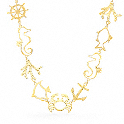 COACH F96754 Metal Summer Charm Necklace