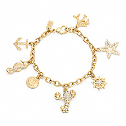 COACH F96760 Small Summer Charm Bracelet