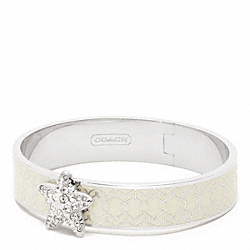 COACH F96771 Half Inch Hinged Starfish Bangle