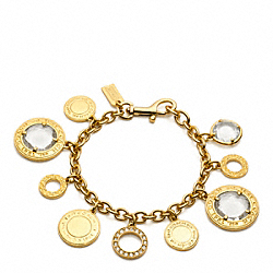 COACH F96805 Glass Charm Bracelet