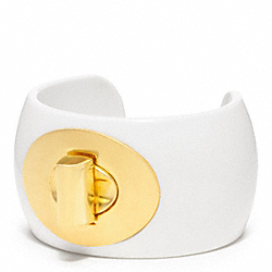 COACH F96807 Turnlock Cuff GOLD/WHITE