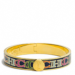 COACH F96810 Half Inch Hinged Coach Letter Bangle