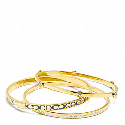 COACH F96811 Pave Signature C Bangle Set