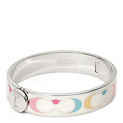 COACH F96812 Half Inch Hinged Multi Signature Bangle