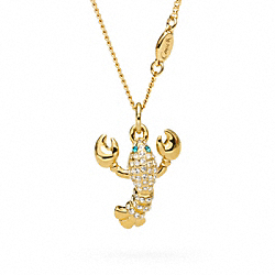 COACH F96827 Lobster Pendant Necklace