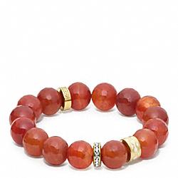 COACH F96838 Rondelle Bead Bracelet GOLD/CORAL