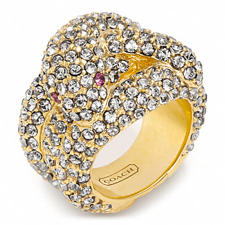 COACH f96841 PAVE STONE SNAKE RING