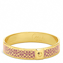 COACH F96855 Half Inch Signature Bangle GOLD/ROSE