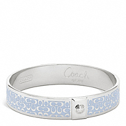 COACH F96855 Half Inch Signature Bangle SILVER/SKY