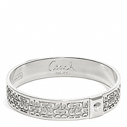 COACH F96855 Half Inch Signature Bangle SILVER/SILVER