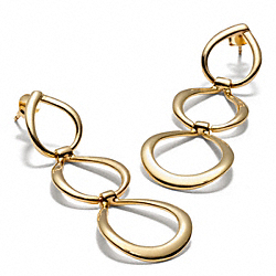 TRIPLE LINK EARRINGS - f96865 - F96865GDGD