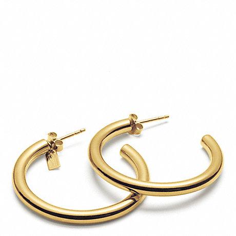 COACH F96871 HOOP EARRINGS GOLD/GOLD