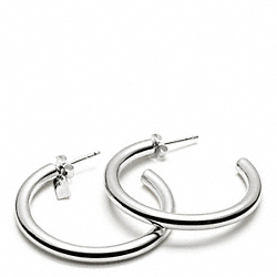 COACH F96871 Hoop Earrings SILVER